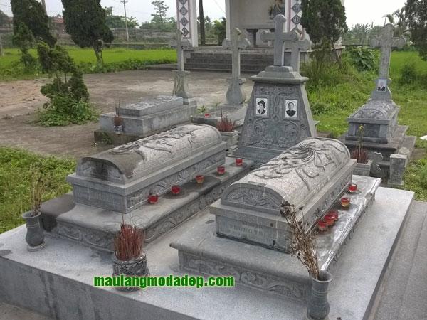 Mẫu mộ công giáo LD 05