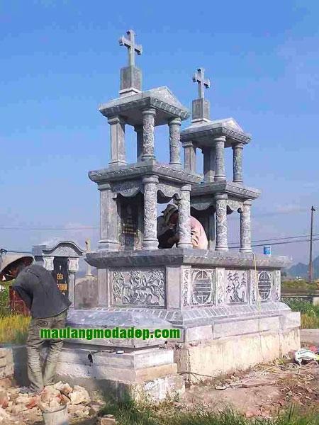 Mẫu mộ công giáo LD 06