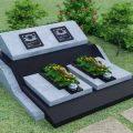 Mẫu mộ đá hoa cương granite LD 05