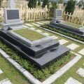 Mẫu mộ đá hoa cương granite LD 07
