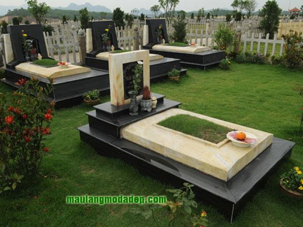Mẫu mộ đá hoa cương granite LD 09