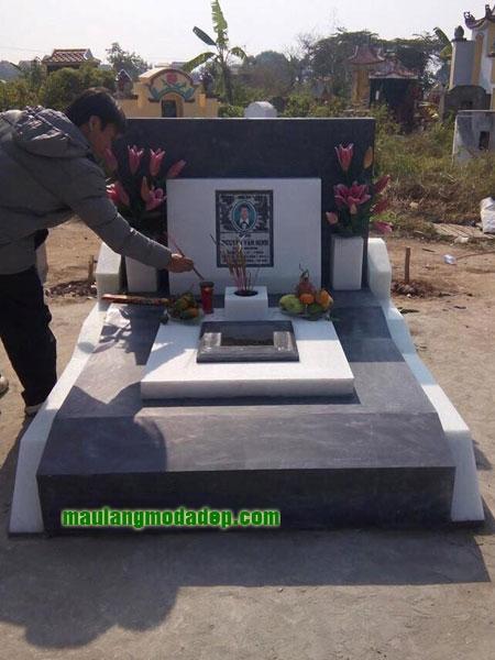 Mẫu mộ đá hoa cương granite LD 12