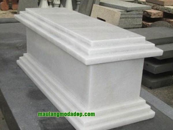 Mẫu mộ đá trắng LD 03