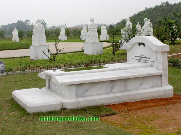 Mẫu mộ đá trắng LD 06