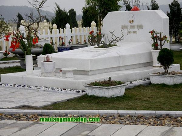 Mẫu mộ đá trắng LD 08