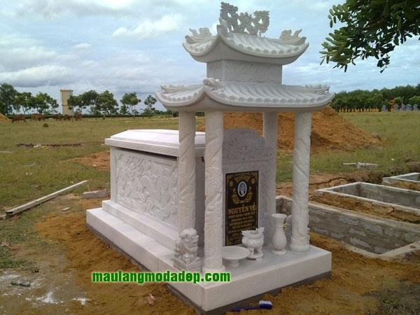 Mẫu mộ đá trắng LD 11