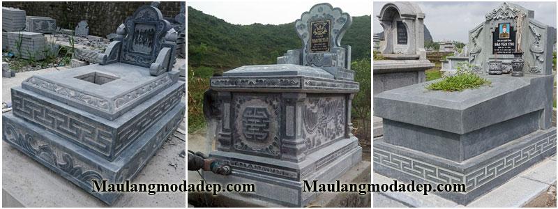 Mẫu mộ đẹp đơn giản, mộ đá đơn giản, mộ đá giá rẻ.
