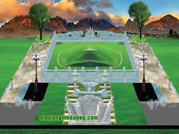 Mẫu thiết kế lăng mộ LD 07