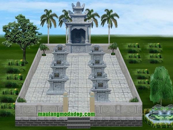 Mẫu thiết kế lăng mộ LD 09