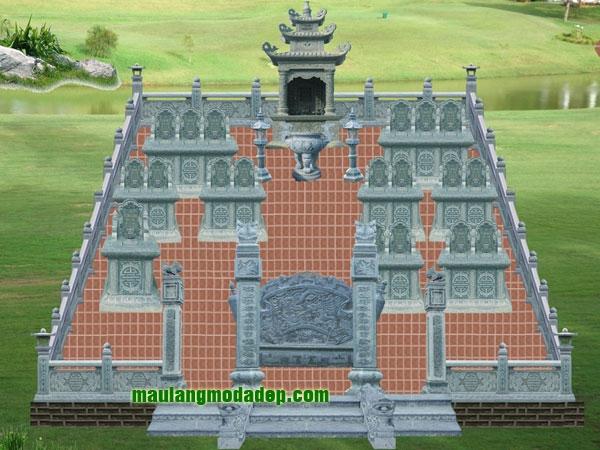 Mẫu thiết kế lăng mộ LD 11