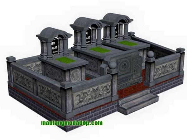 Mẫu thiết kế lăng mộ LD 14