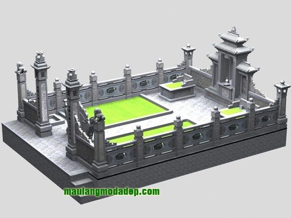 Mẫu thiết kế lăng mộ LD 15